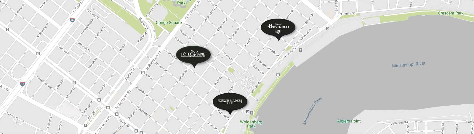 hotel locations map